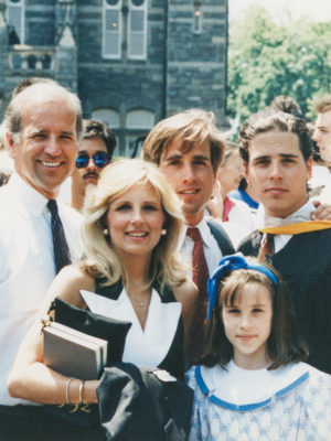 Joe Biden and his family at Hunter's graduation