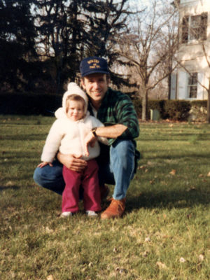 Joe with young daughter Ashley