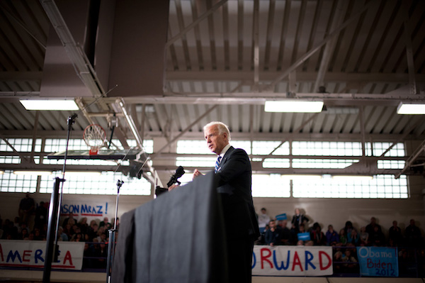 VP Biden speaking at a re-election rally.