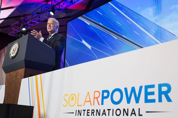 VP Biden speaking at Solar Power International.