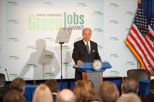 VP Biden speaking at the Senate Democratic Green Jobs Summit.