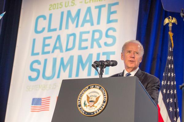 VP Biden speaking at the Climate Leaders Summit.