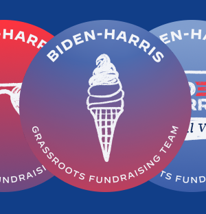 Image of Biden Harris Grassroots Fundraising stickers.