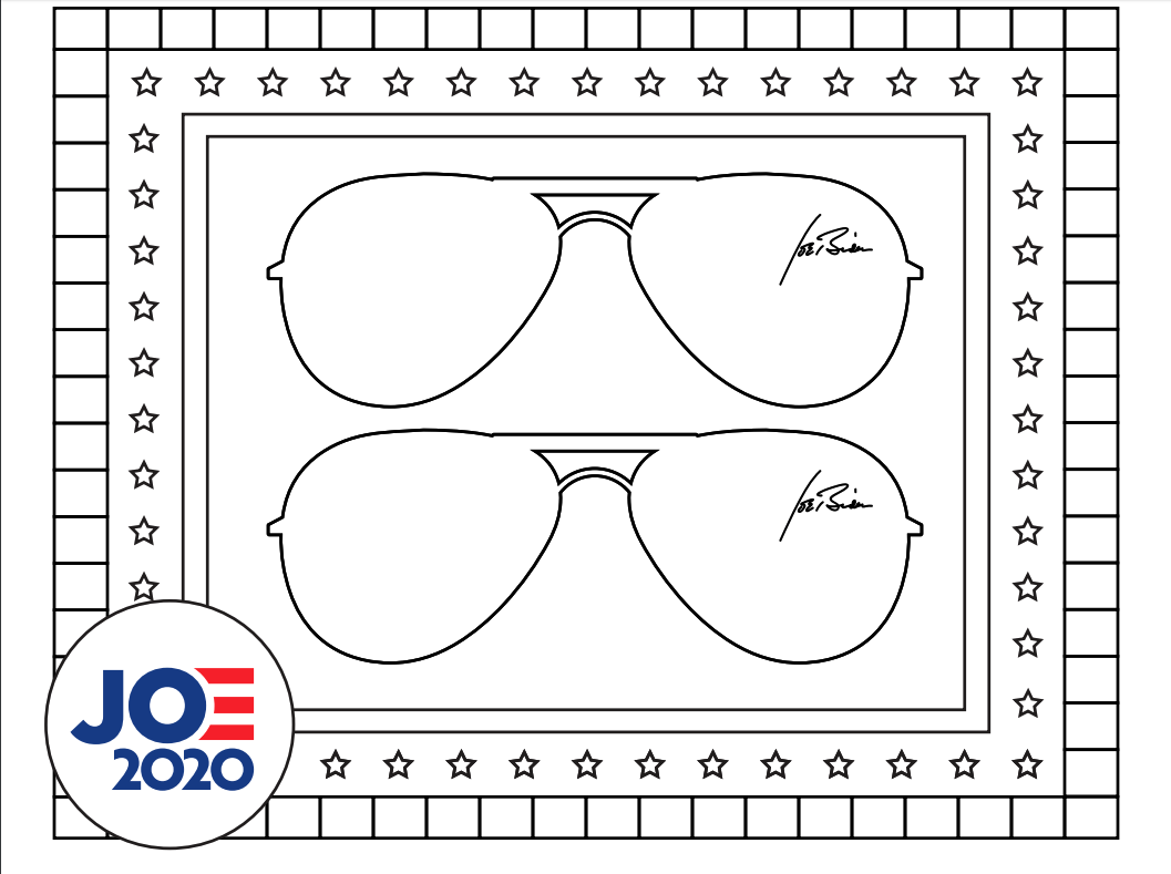25+ Printable Sunglasses Coloring Page