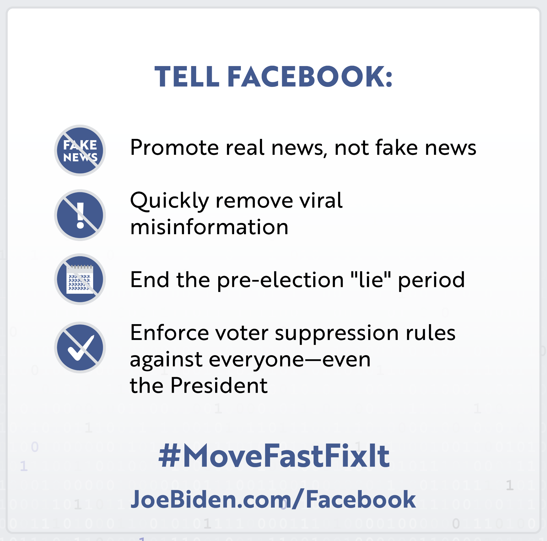 Movefastfixit Joe Biden For President Official Campaign Website