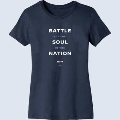 Battle For The Soul Of The Nation (Unisex & Women's Navy Tee)