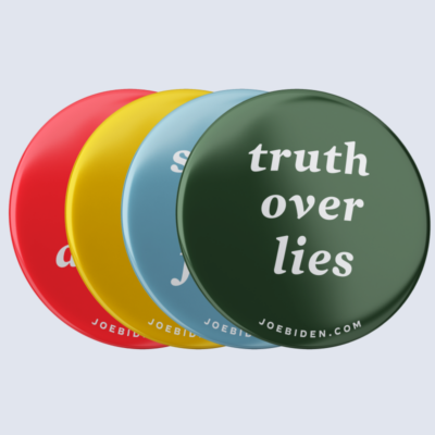 "Truth Over Lies Series Button Collection (2.25"" Mylar Button -- Pack Of Four!)"