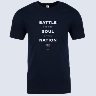 Battle For the Soul of the Nation Navy T-Shirt