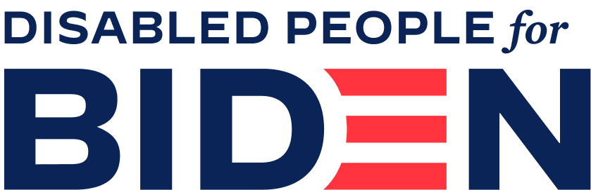 Disabled People for Biden logo
