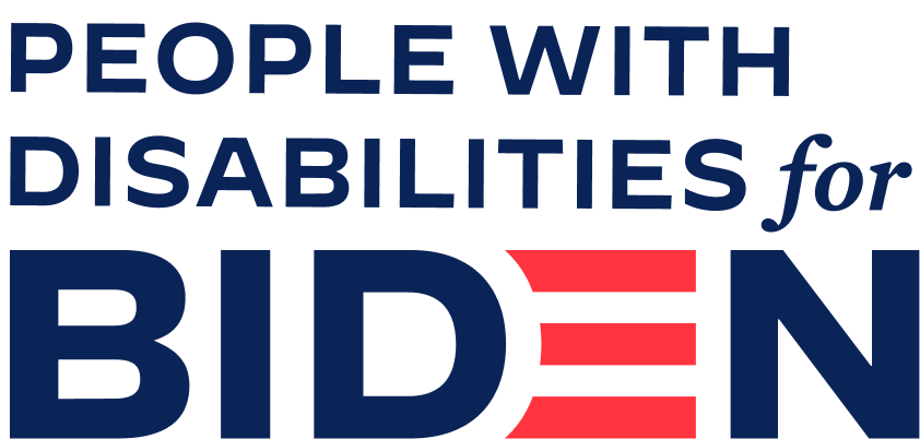 People with Disabilities for Biden logo
