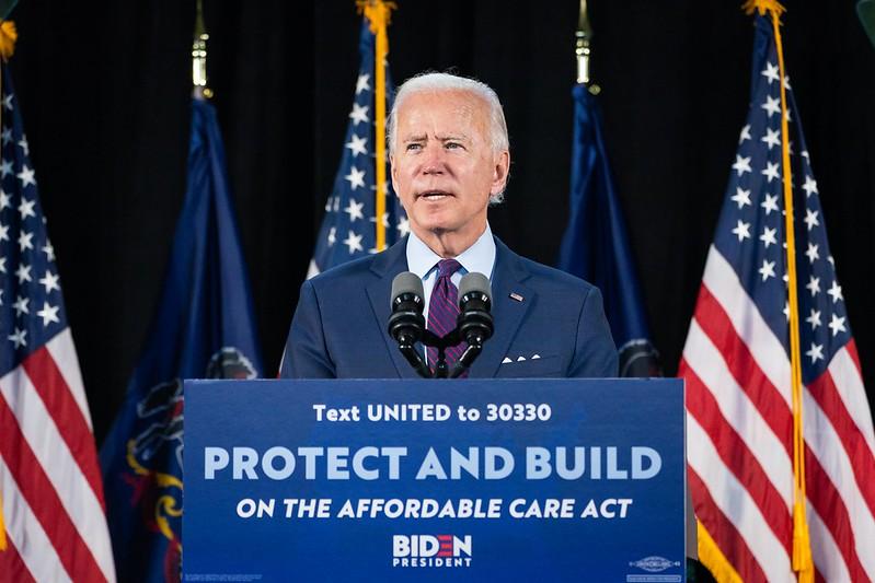 Joe Biden at health care event