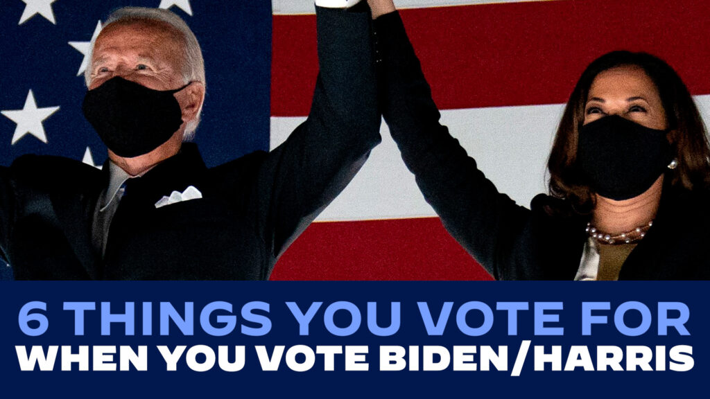 6 Things You Vote for when You Vote Biden/Harris