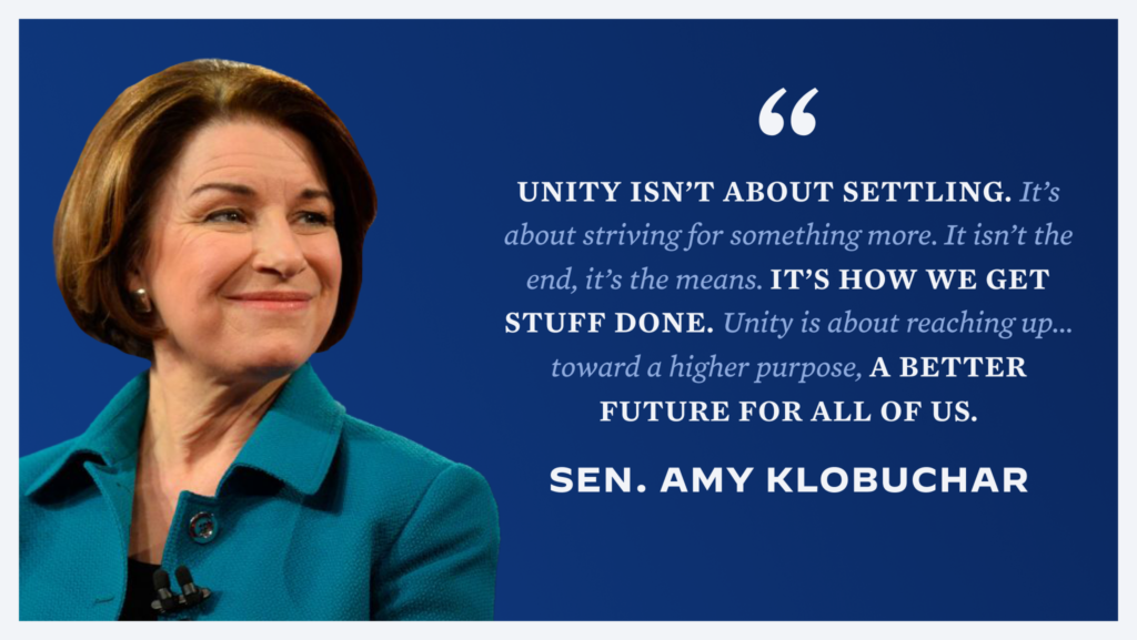 Social Graphic - Amy Klobuchar quote
