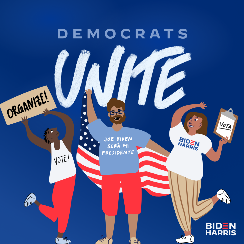 Democrats Unite Social Graphic