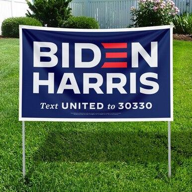 Biden Harris letrero azul para el jardín