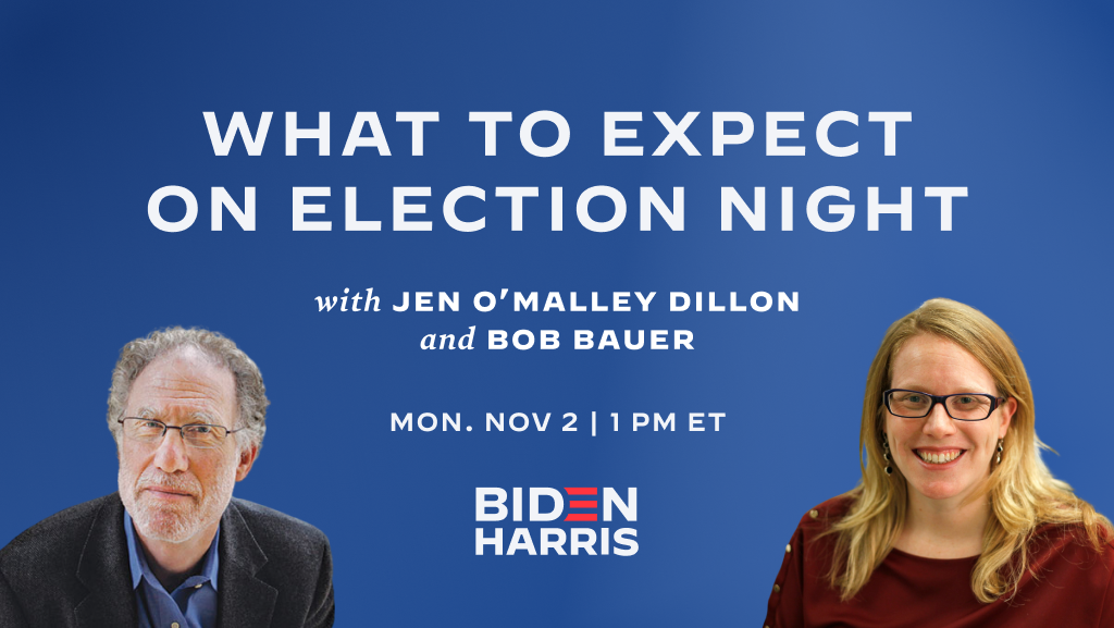 What to Expect on Election Night with Jen O'Malley Dillon and Bob Bauer | Election Day Tomorrow